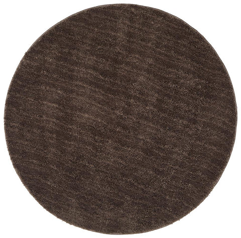 Airlie Round Dark Brown Shag Rug