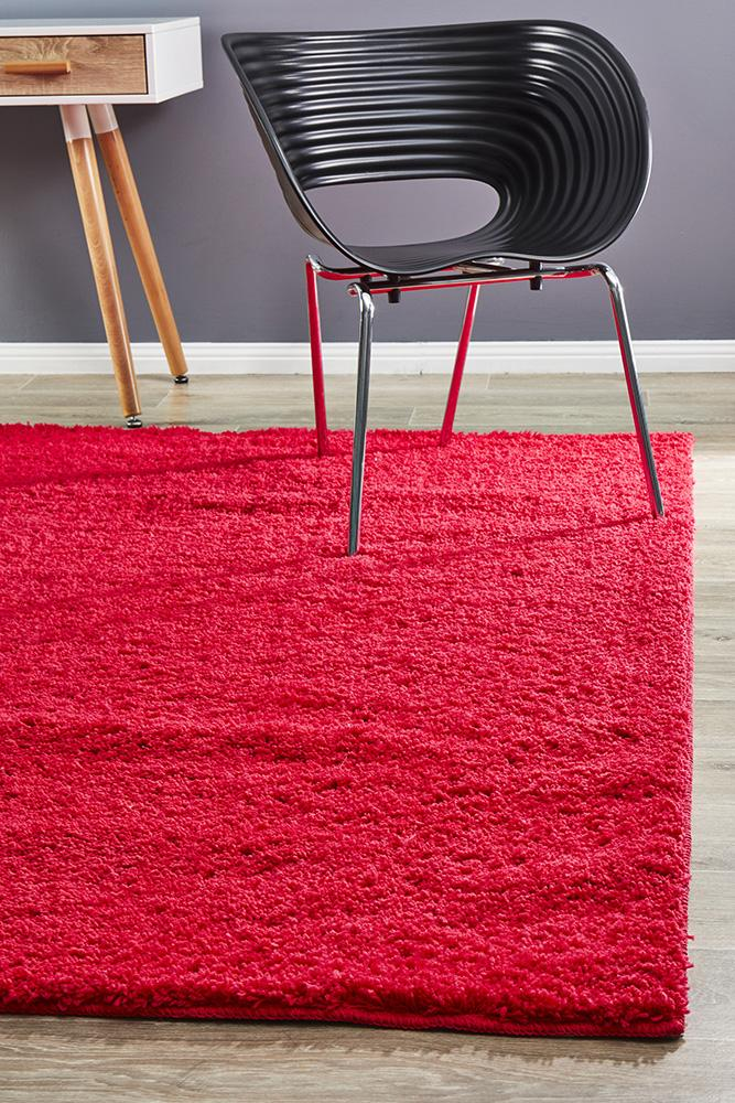 Airlie Awesome Pink Shag Rug