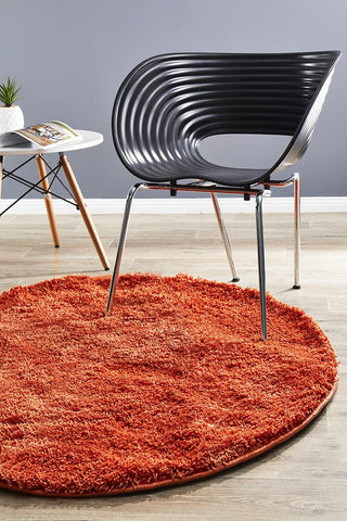 Airlie Round Rust Shag Rug