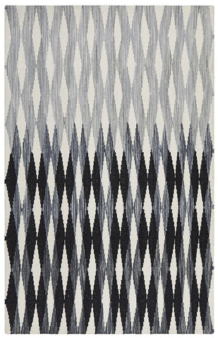 Casablanca Frida Gradient Black Grey White Rug