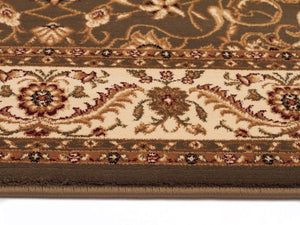 Sydney Medallion Runner Green With Ivory Border Runner Rug