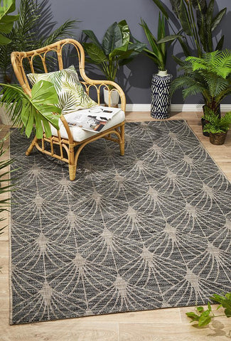 Paris Indoor Outdoor Black Rug