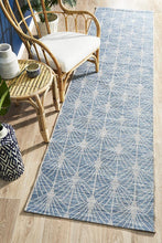 Paris Indoor Outdoor Blue Runner Rug