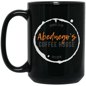 15 oz. Black Mug Color Logo