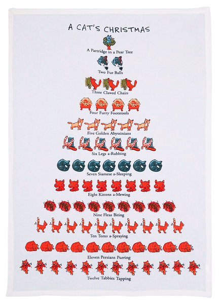 A Cat's Christmas Kitchen Towel
