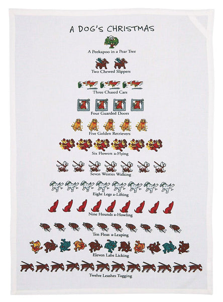 A Dog's Christmas Kitchen Towel