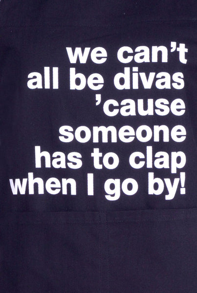 Apron We Can't All Be Divas Black