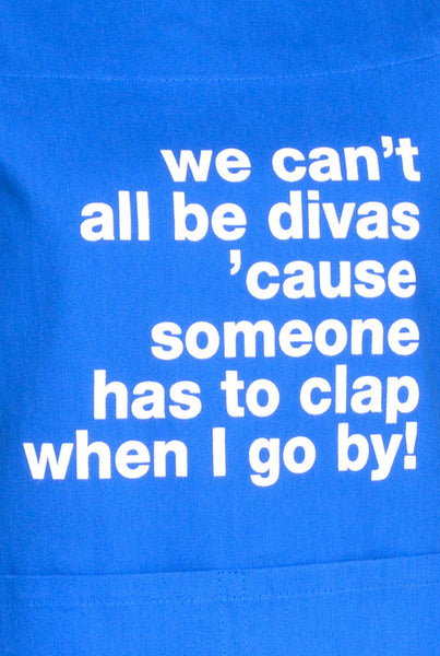 Apron We Can't All Be Divas Blueberry