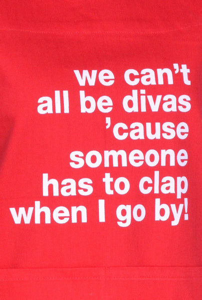 Apron We Can't All Be Divas Red