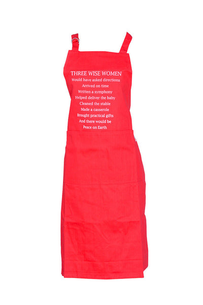 Apron 3 Wise Women Red