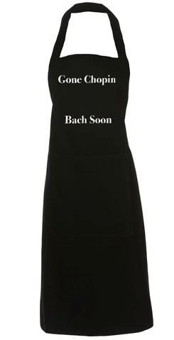 Apron Gone Chopin Bach Soon Black