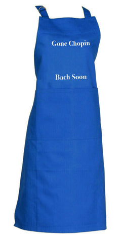 Apron Gone Chopin Bach Soon Blueberry