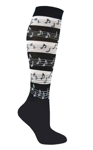 Knee High Socks Music Stripe