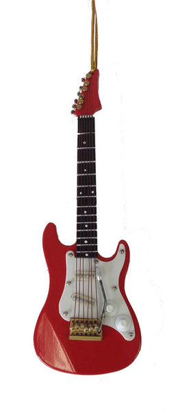Red Electric Guitar Ornament