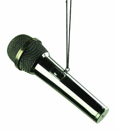 Black Microphone Ornament