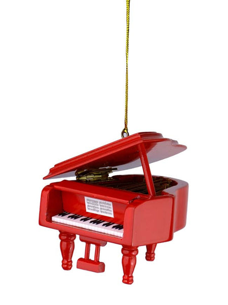 Red Grand Piano Ornament