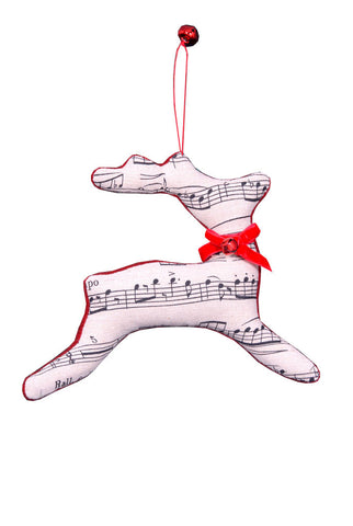 Music Reindeer Ornament