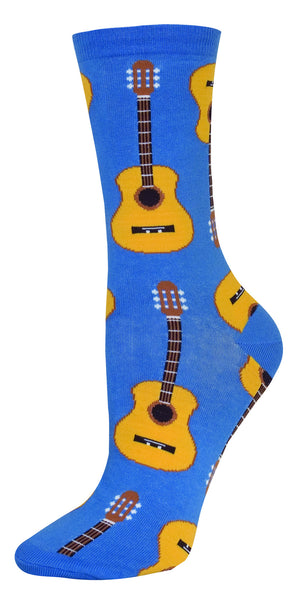 Acoustic Guitars Socks Blue