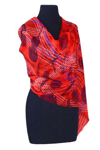 Scarf Instruments Silk Red