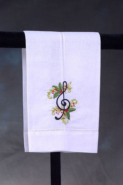 Guest Towel Treble Clef with Berries
