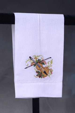Guest Towel Violin with Berries