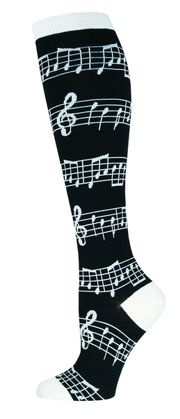 Knee High Socks Music Black