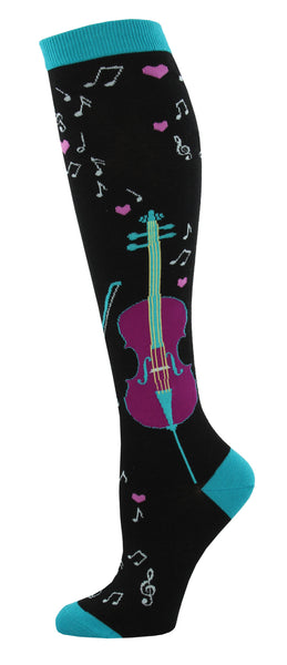 Knee High Socks Love and Music