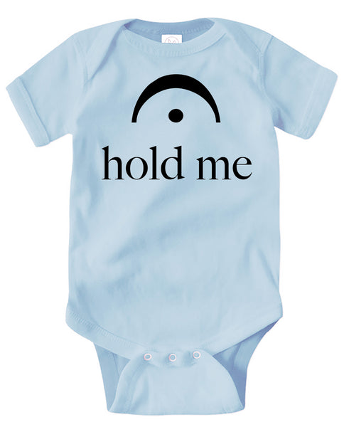 Infant Bodysuit Hold Me Blue