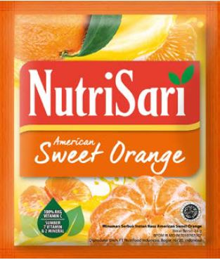 Nutrisari American Sweet Orange Renceng (isi 10 sachet)