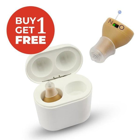 MEGA HEARING AIDS RECHARGEABLE X2-WHITE CHARGING CASE & POWER BANKFOR 2