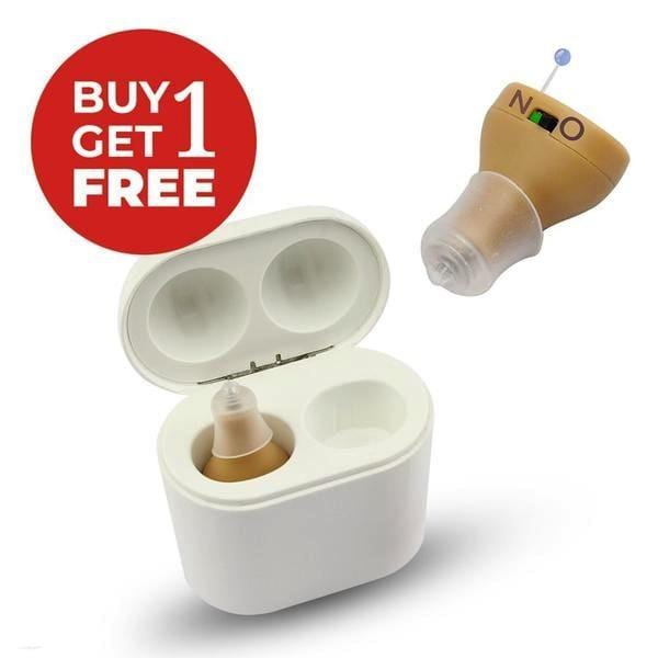 Mega X2 New Style Rechargeable Hearing Aids-2020( 1 Pair)PowerBank Charging Case