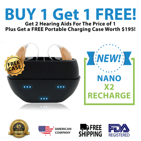 Buy 1 New Nano Model X3 Recharge Hearing Aid And Get The Second Ear FREE! Plus Get a FREE Portable Charging Case Worth $195! - seasonsmobility