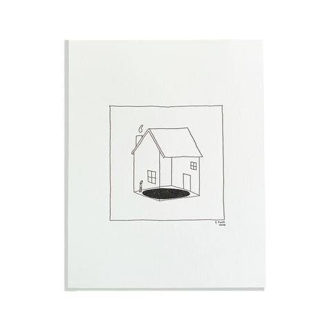 Home Hole Letterpress Print