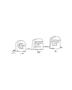 Print: Weight Gravestones