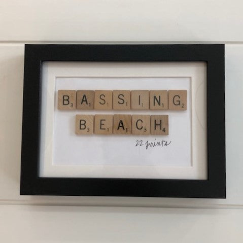 'Bassing Beach' Scrabble