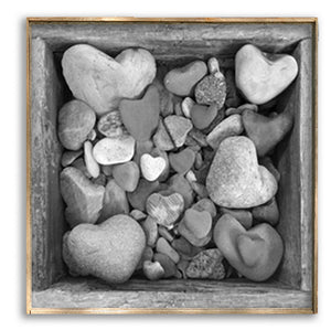 Box of Heart Rocks Art