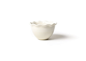 Ruffle Bowl - White