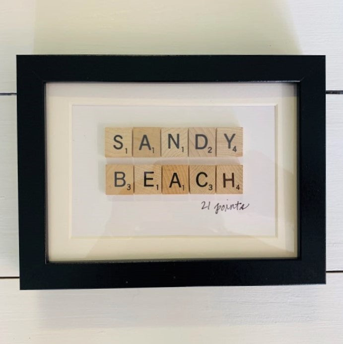 'Sandy Beach' Scrabble