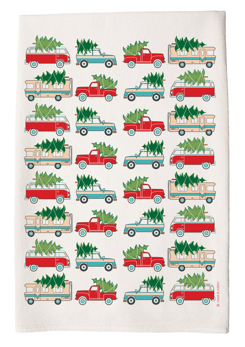 Hand Towel - Tree Trucks