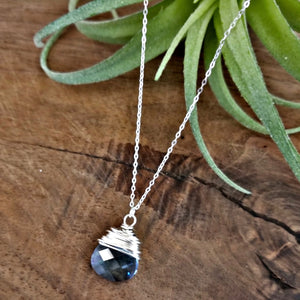 Teardrop Blue Necklace