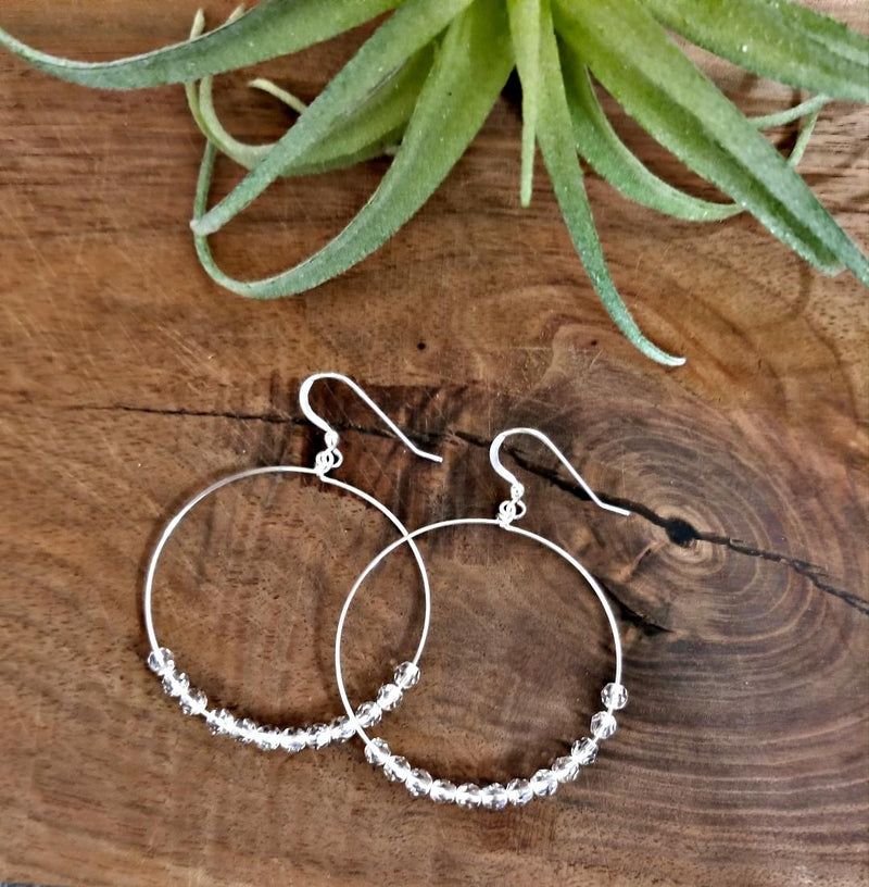 Hoop Earrings-Clear