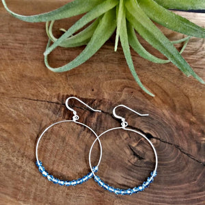 Hoop Earrings-Blue