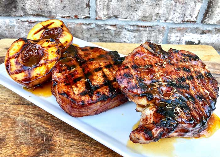 Sweet & Spicy Grilled Pork Chops