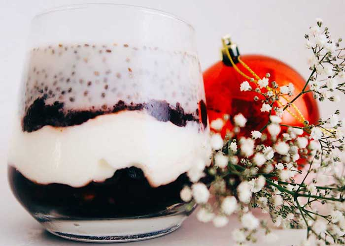 Festive Pudding with Roza's Cranberry & Orange Sauce