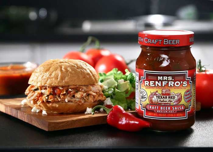 Salsa Pulled Chicken Sandwich