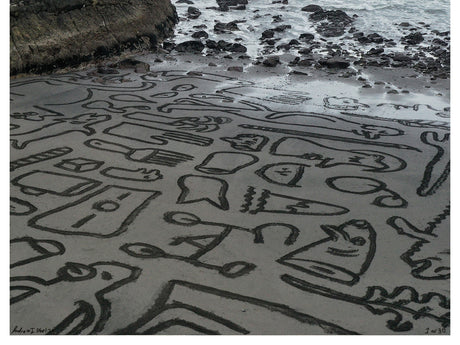 Back Beach Hieroglyphics