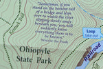 Ohiopyle - Laurel Highlands Purple Lizard Map