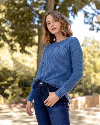 W's Organic Cotton Sweater - High Tide