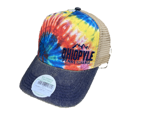 Rainbow Tie Dye Trucker Hat