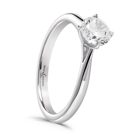 Brown & Newirth Orchid Diamond Engagement Ring
